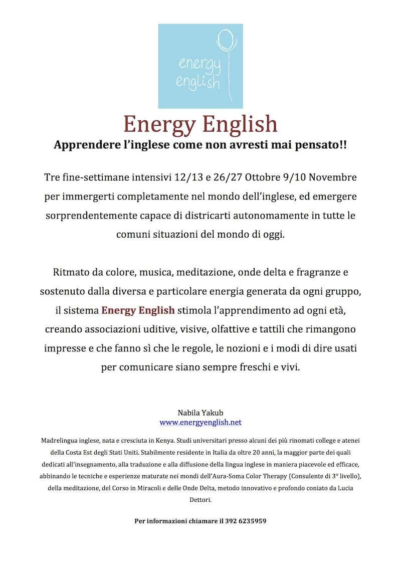 Holistic Energy English