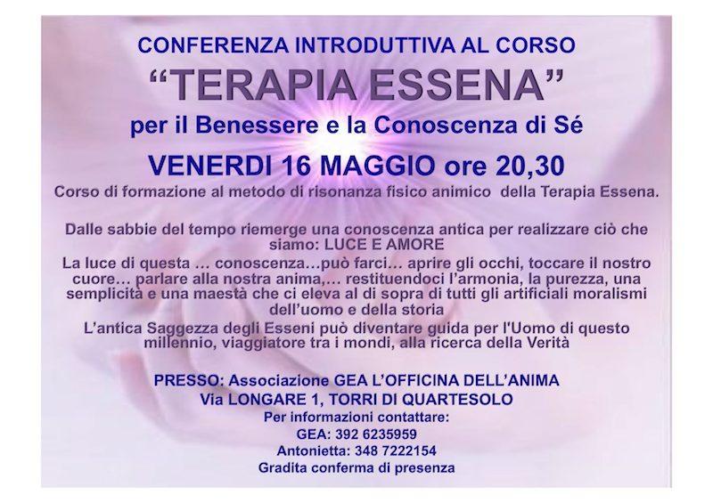 conferenza terapia essena GEA