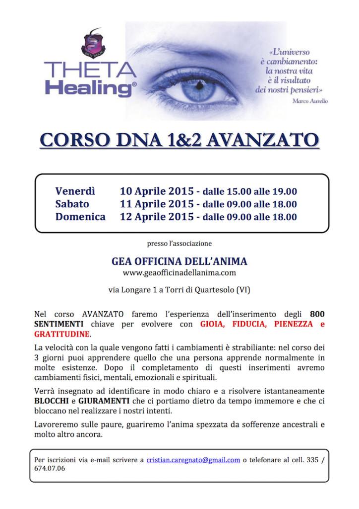 Locandina AVANZATO Theta Healing - GEA 2