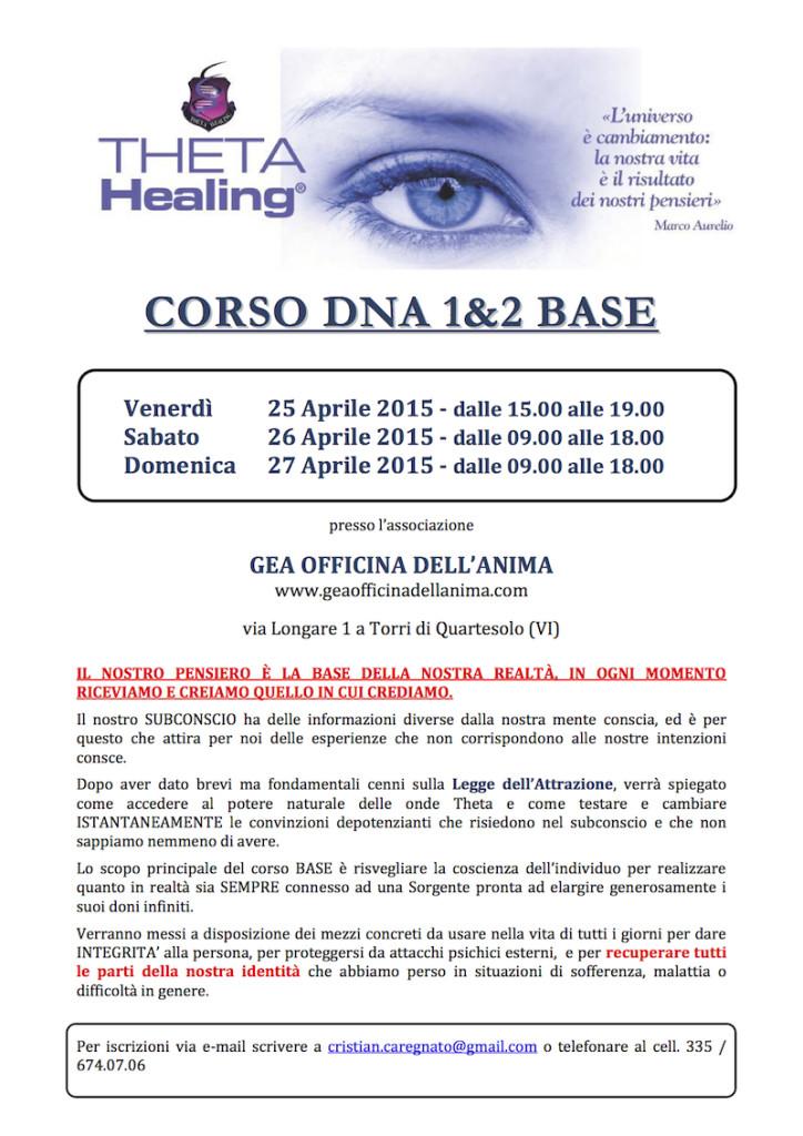 Locandina BASE Theta Healing - GEA 2