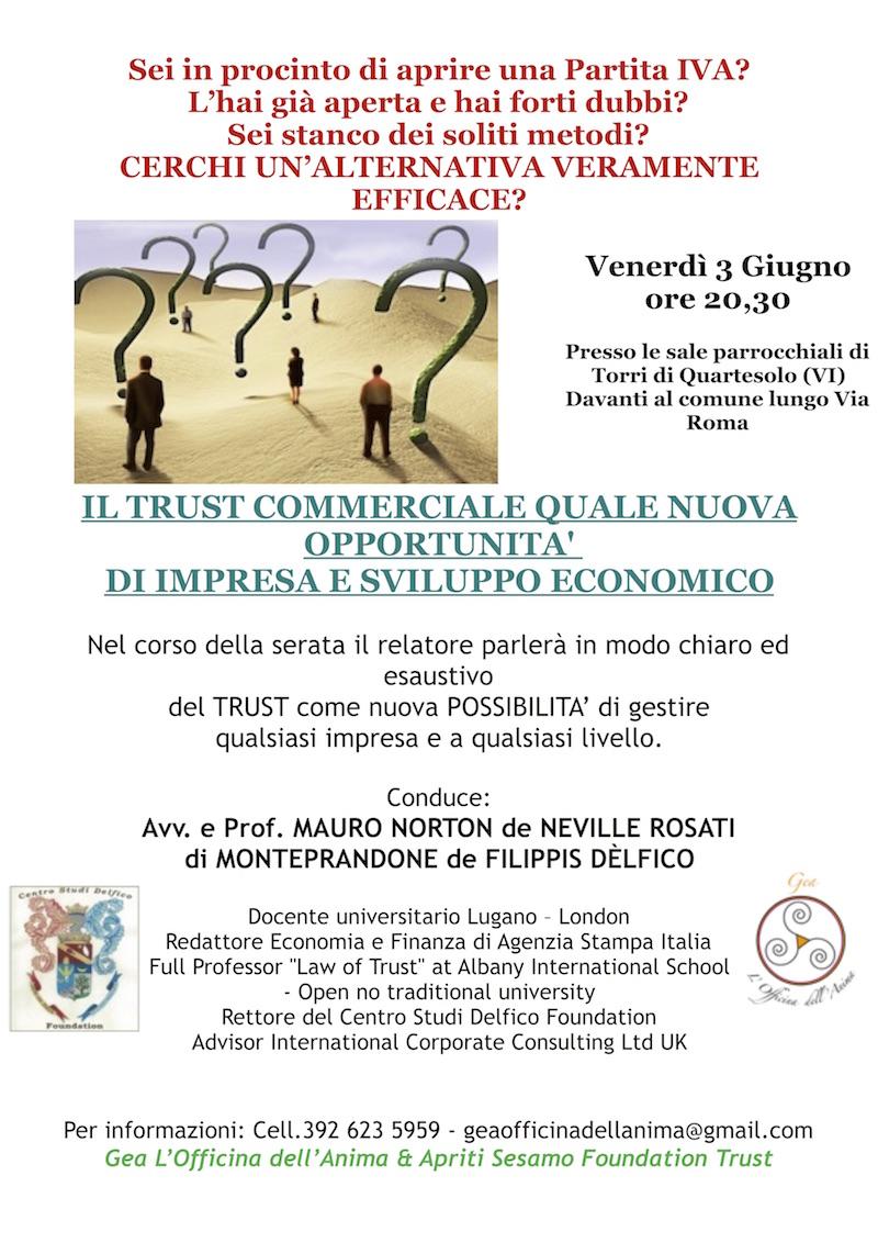 TRUST COMMERCIALE QUALE NUOVA OPPORTUNITA' DI IMPRESA E SVILUPPO ECONOMICO