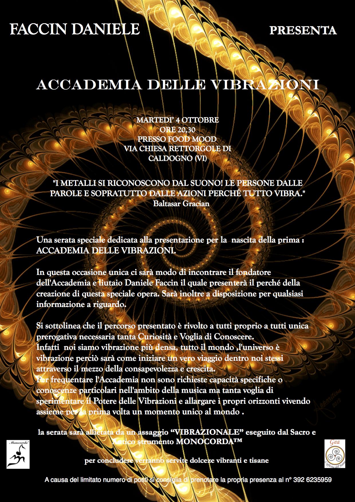 Presentazione dell'Accademia delle Vibrazioni